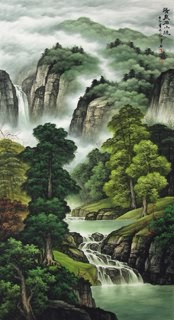 Chinese Mountain and Water Painting,97cm x 180cm,1135071-x