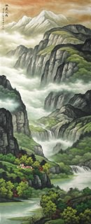 Chinese Mountain and Water Painting,150cm x 350cm,1135080-x