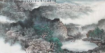 Chinese Mountain and Water Painting,68cm x 136cm,lh11083004-x