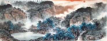 Chinese Mountain and Water Painting,70cm x 180cm,lh11083020-x