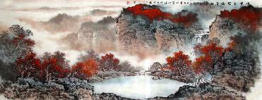 Chinese Mountain and Water Painting,70cm x 180cm,lh11083021-x
