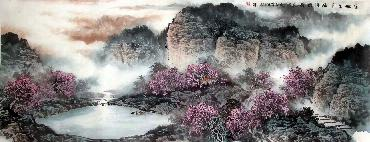 Chinese Mountain and Water Painting,70cm x 180cm,lh11083023-x