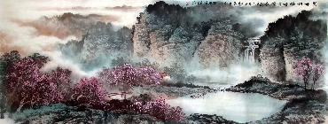 Chinese Mountain and Water Painting,70cm x 180cm,lh11083024-x