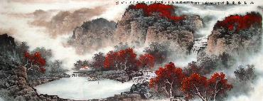 Chinese Mountain and Water Painting,70cm x 180cm,lh11083026-x