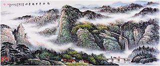Chinese Mountain and Water Painting,70cm x 180cm,zyg11115004-x