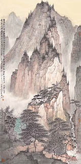 Chinese Mountain and Water Painting,68cm x 136cm,zzb11116001-x