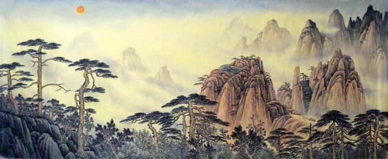 chinese art mountains - photo #23
