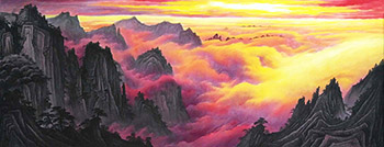 Chinese Mountains Painting,70cm x 180cm,lh11083006-x