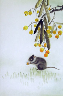 Chinese Mouse Painting,43cm x 65cm,4349003-x