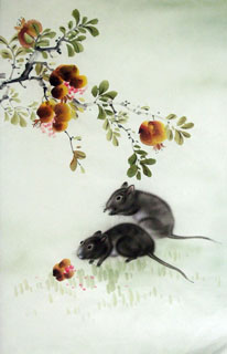Chinese Mouse Painting,43cm x 65cm,4349004-x