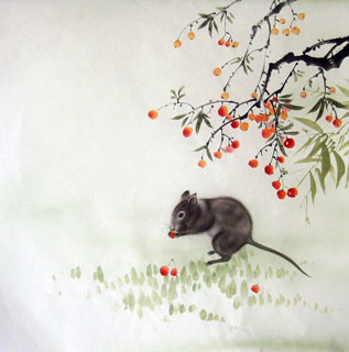 Chinese Mouse Painting,66cm x 66cm,4349008-x