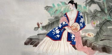 Chinese Nude Girl Painting,66cm x 136cm,3082031-x