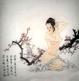 Chinese Nude Girl Painting,69cm x 69cm,3719019-x