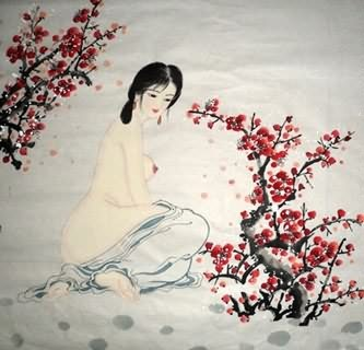 Chinese Nude Girl Painting,69cm x 69cm,3719020-x