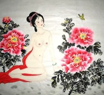 Chinese Nude Girl Painting,69cm x 69cm,3719021-x