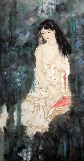 Chinese Nude Girl Painting,69cm x 138cm,3723008-x
