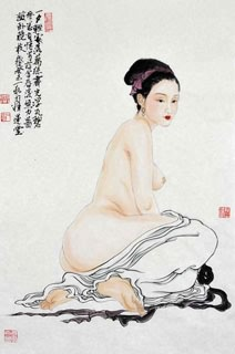 Chinese Nude Girl Painting,69cm x 46cm,3776035-x