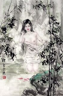 Chinese Nude Girl Painting,69cm x 46cm,3798016-x
