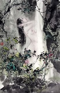 Chinese Nude Girl Painting,69cm x 46cm,3798017-x