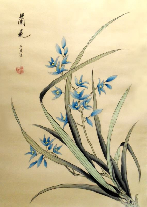 Chinese Orchid Painting Orchis 2336049 55cm X 40cm 22〃 X 16〃
