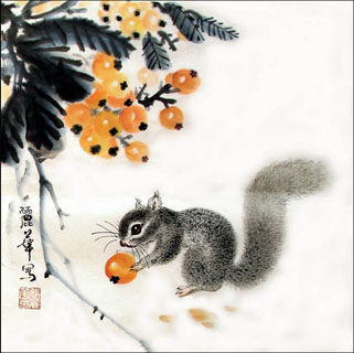 Chinese Other Animals Painting,34cm x 34cm,4485012-x