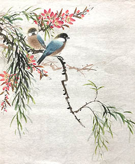 Chinese Other Birds Painting,40cm x 50cm,2011057-x