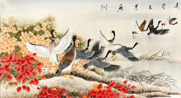 Chinese Other Birds Painting,92cm x 174cm,2336118-x