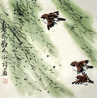 Chinese Other Birds Painting,33cm x 33cm,2399006-x