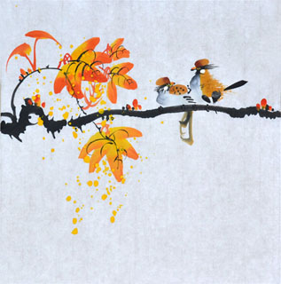 Chinese Other Birds Painting,33cm x 33cm,2408013-x