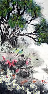 Chinese Other Birds Painting,69cm x 138cm,2423015-x