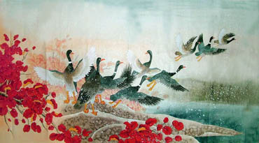Chinese Other Birds Painting,97cm x 180cm,2617055-x