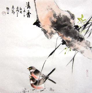 Chinese Other Birds Painting,50cm x 50cm,dyc21099029-x