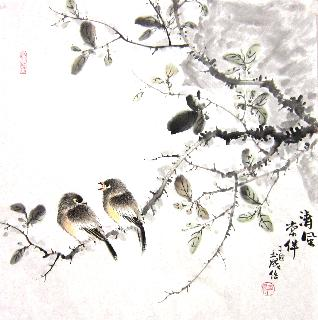 Chinese Other Birds Painting,50cm x 50cm,dyc21099037-x