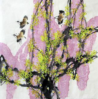 Chinese Other Birds Painting,66cm x 66cm,fxq21075004-x