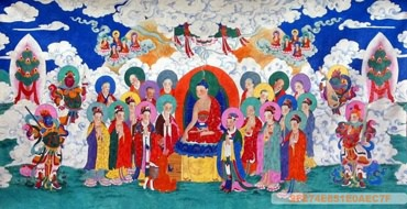 Chinese Other Buddha Painting,135cm x 265cm,3541021-x