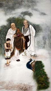 Chinese Other Buddha Painting,75cm x 140cm,3803036-x