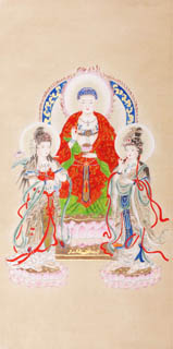 Chinese Other Buddha Painting,66cm x 130cm,3809020-x
