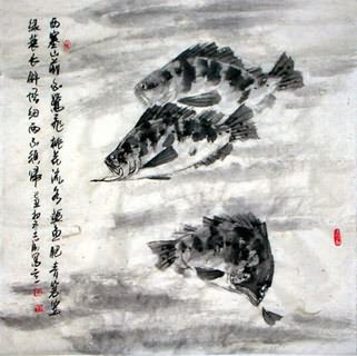 Chinese Other Fishes Painting,69cm x 69cm,2360007-x