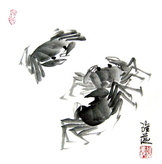 Chinese Other Fishes Painting,33cm x 33cm,2367029-x