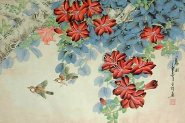 Chinese Other Flowers Painting,43cm x 65cm,2319037-x