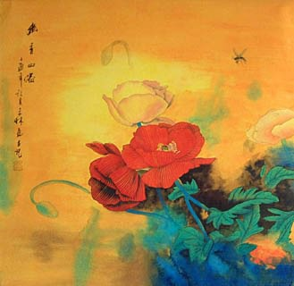 Chinese Other Flowers Painting,66cm x 66cm,2319042-x