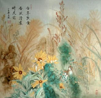 Chinese Other Flowers Painting,66cm x 66cm,2319048-x