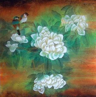 Chinese Other Flowers Painting,66cm x 66cm,2319075-x