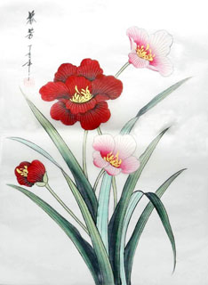 Chinese Other Flowers Painting,28cm x 35cm,2336074-x
