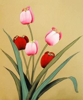 Chinese Other Flowers Painting,19cm x 27cm,2336078-x