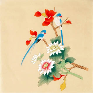 Chinese Other Flowers Painting,40cm x 40cm,2340026-x