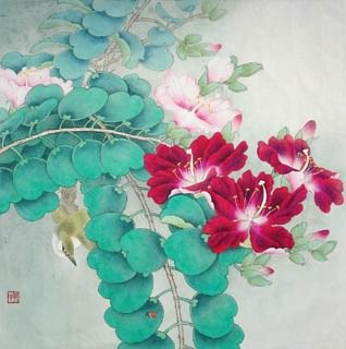 Chinese Other Flowers Painting,45cm x 45cm,2342005-x