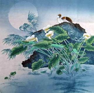 Chinese Other Flowers Painting,45cm x 45cm,2342006-x