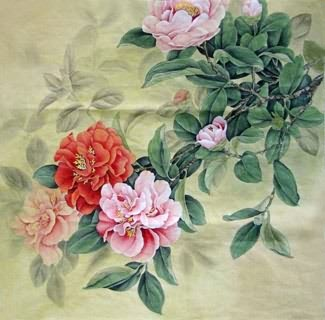 Chinese Other Flowers Painting,69cm x 69cm,2352026-x