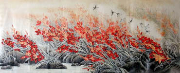 Chinese Other Flowers Painting,70cm x 180cm,2352027-x